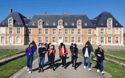 Venue de Audrey Pulvar, Dieynaba Diop et Michèle Vitrac-Pouzoulet à Grignon
